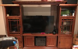 Nice wooden entertainment center in Okinawa, Japan