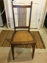 antique wooden/cane chair in Naperville, Illinois