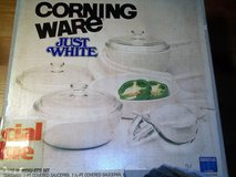 CORNINGWARE JUST WHITE COOKING SET in Perry, Georgia
