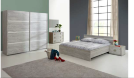 Alexi US Full Size bed set complete with Mattress and delivery in Stuttgart, GE