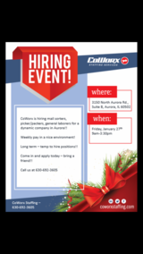 CoWorx is hiring!!! in Bolingbrook, Illinois