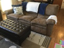 Suede Recliner Couch in Fort Carson, Colorado