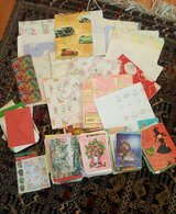 Vintage/new cards, wrapping paper and stickers in Fort Irwin, California