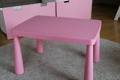 IKEA Mammut table pink girly:) in Ramstein, Germany