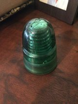 Vintage Blue Green Glass Electric Insulator in 29 Palms, California