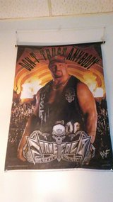 Wwf classic stone cold material wall picture in Hemet, California