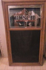 vintage 1986 Busch sign chalk board in Fort Campbell, Kentucky
