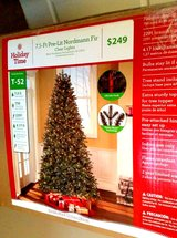 7.5 Ft Pre-Lit Christmas Tree (Retail Price $249 plus Tax) in Fort Campbell, Kentucky
