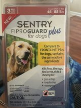 Sentry FiproGuard Plus for dogs 45-88 Ibs 3 month supply in Hinesville, Georgia