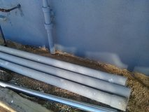 Pvc pipes 3 of them in Barstow, California