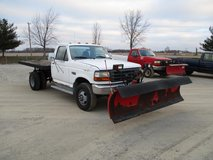 1997 Ford F-350 Dually 4x4 Western plow Flat bed in Lockport, Illinois