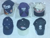 Lot of 6 hats: Bulls, Chicago Enforcers, White Sox, Bears, Denver Broncos, USA. in Bolingbrook, Illinois