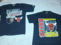 2 Chicago Bulls never worn t-shirts from 1991 in Bolingbrook, Illinois