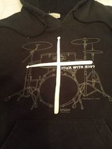 Youth Sz 14 Christian Drummer Hoodie in Glendale Heights, Illinois