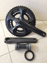 USED. Shimano Ultegra FC-6750 Ultegra 10-speed Compact chainset, 50 / 34T in Okinawa, Japan