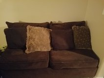Chocolate microfiber couch in Barstow, California