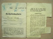 1939 German Ration Card (for clothing) in Mannheim, GE