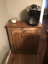 Wood coffee bar liquor cabinet table hutch console in Camp Lejeune, North Carolina