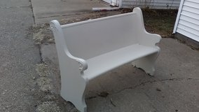Church Pew Repainted 59 1/2 inches wide by 36 inches tall in Quad Cities, Iowa