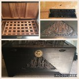 Ornate George Zee & Co. Wooden Chest in Beaufort, South Carolina