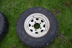 Landover defender 8 spoke rim and avon rangemaster tyre 108/106N 7.50R 16 5mm tread £20.00... in Lakenheath, UK
