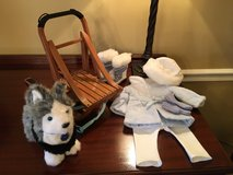 """American Girl sled, sled dog """"Pepper"""", American Girl doll """"snow flurry"""" outfit - adorable excell... in bookoo, US"""