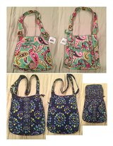 Vera Bradley - 2 Cross body Purses - see descriptions in Bartlett, Illinois