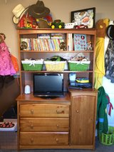 Changing table with dresser and hutch combo in 29 Palms, California
