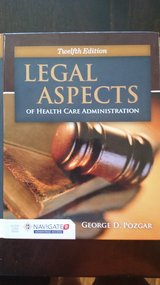 Legal Aspects of Health Care Administration 12 edition in Vista, California