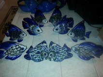 Beach house Fish decoration lot of 10- hand painted ceramic - lot 2 in Fort Rucker, Alabama