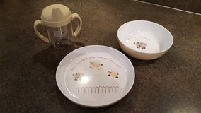Pottery Barn Lamb Sheep plate bowl sippy cup set in Bartlett, Illinois