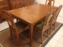 French Oak 1940's dining set (table, chairs, more) in Ramstein, Germany