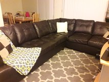 Brown leather couches in Fairfield, California