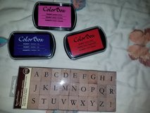 Alphabet stamps & Ink*new* in Travis AFB, California