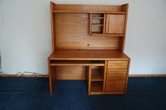 High Quality Solid Oak Computer Desk with Hutch in Bartlett, Illinois