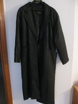WOMEN'S MEDIUM LONG BLACK LEATHER COAT in DeKalb, Illinois