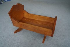 Handcrafted Wood Cradle with Music Box in Glendale Heights, Illinois