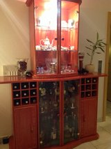 High End Quality Bamboo glass and drink cabinet (without items) in Hohenfels, Germany