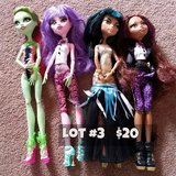 Monster High Dolls Lot #3 in Chicago, Illinois