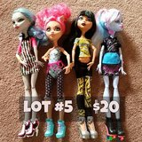 Monster High Dolls Lot #5 in Chicago, Illinois