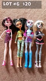 Monster High Dolls Lot #6 in Chicago, Illinois