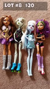 Monster High Dolls Lot #8 in Chicago, Illinois