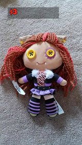 Monster High Stuffed Claudine Dolls in Chicago, Illinois
