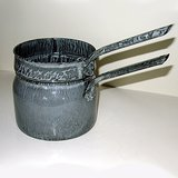 VTG GRANITEWARE DOUBLE BOILER GRAY ENAMELWARE in Batavia, Illinois