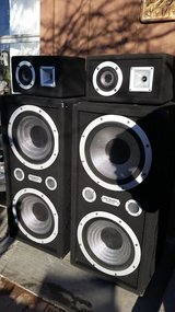 pair 15 Huge Pro Studio Home Theater Speakers Towers in Barstow, California
