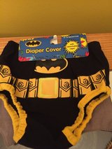 Batman baby boy outfit/ diaper cover with cape for photoshoots in Morris, Illinois
