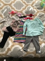 12 mo girl clothing/shoe/accessory lot in Houston, Texas