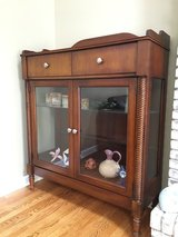 Gorgeous wood and glass display cabinet in bookoo, US