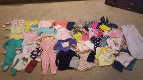 Lot of Baby Girl clothes 12 months fall winter (52 pieces) in Bartlett, Illinois