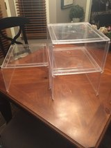 3 Container Store Clear Plastic Stackable Closet Shelves in Naperville, Illinois